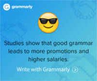 Banner - Correct bad spelling and grammar with Grammarly - Try it Free