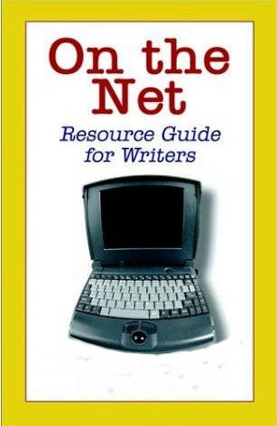 Image of a laptop above text that says On the Net Resource Guide for Writers.